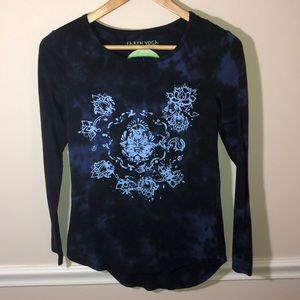 Earth Yoga Blue Tie Dye Organic Shirt Small